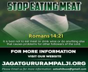 """""""Tokyo Olympics"""" Do not kill for the taste of tongue Romans 14:21 It is best not to eat meat or drink wine or do anything else that causes problems for other followers of the Lord. - SaintRampalji from indian romans"""